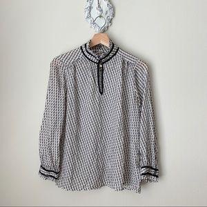J Crew Silk blend blouse